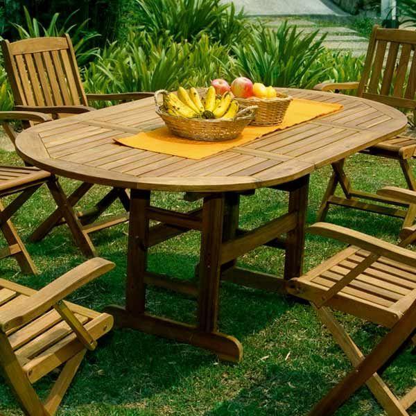 table basse de jardin en bois exotique. Black Bedroom Furniture Sets. Home Design Ideas