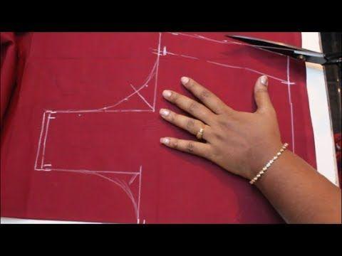 Cross Cut Blouse Cutting & Stitching (DIY) PART 1 - YouTube