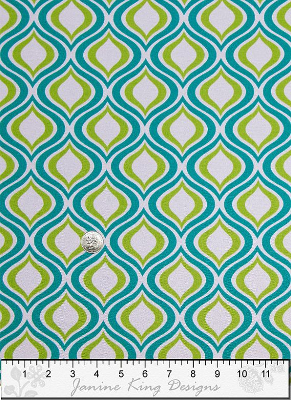 Upholstery Fabric Drapery Fabric Blue Green White Home Decor Fabric