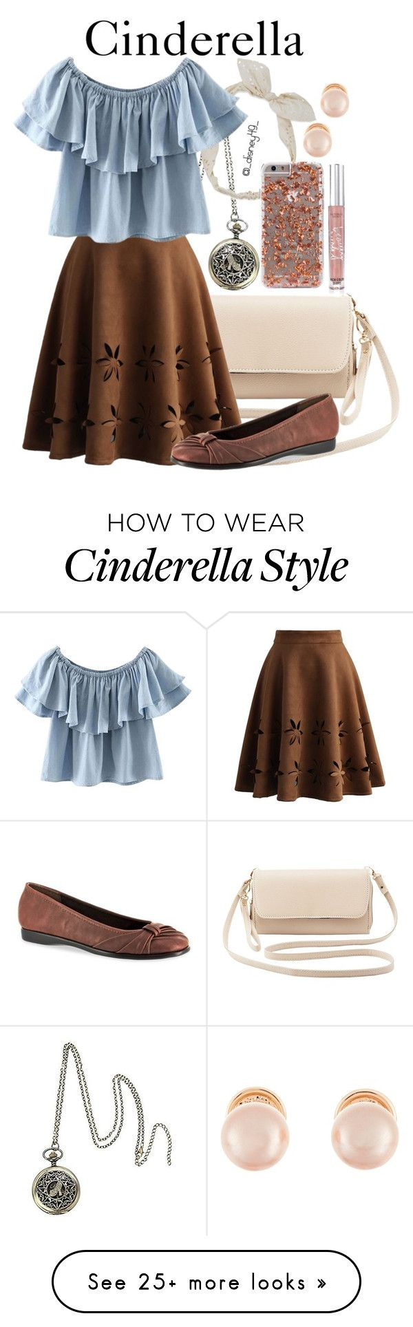"""Cinderella"" by disney49 on Polyvore featuring Disney, Carole, Charlotte Russe, Chicwish, Chicnova Fashion, Easy Street, Kenneth Jay Lane and Victoria's Secret"
