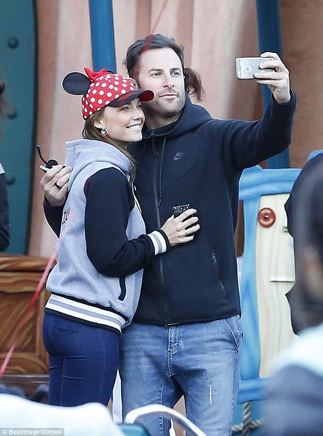 Cute couple: Sam Frost and Sasha Mielczarek were seen looking loved up as they enjoyed a day at Disneyland with Sam's co-star Rove McManus