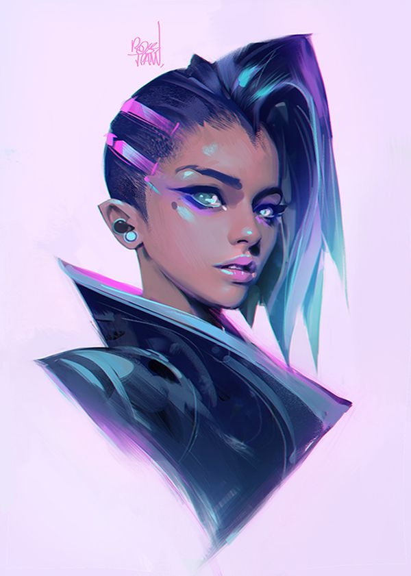Thanks for the amazing Birthday wishes! Here's my exploration of Sombra. Drawing her for the next episode :>