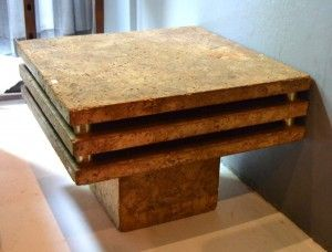 Interiors - Provenance Auction House: A Cork Clad Coffee Table.