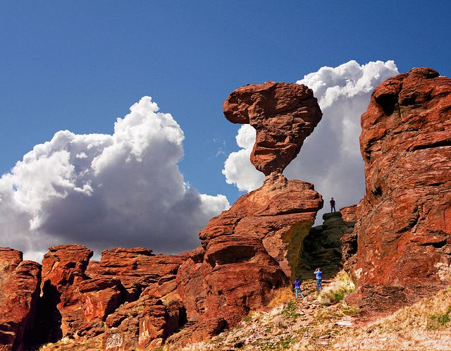 Balanced Rock near Castleford and Buhl Idaho #usa #travel