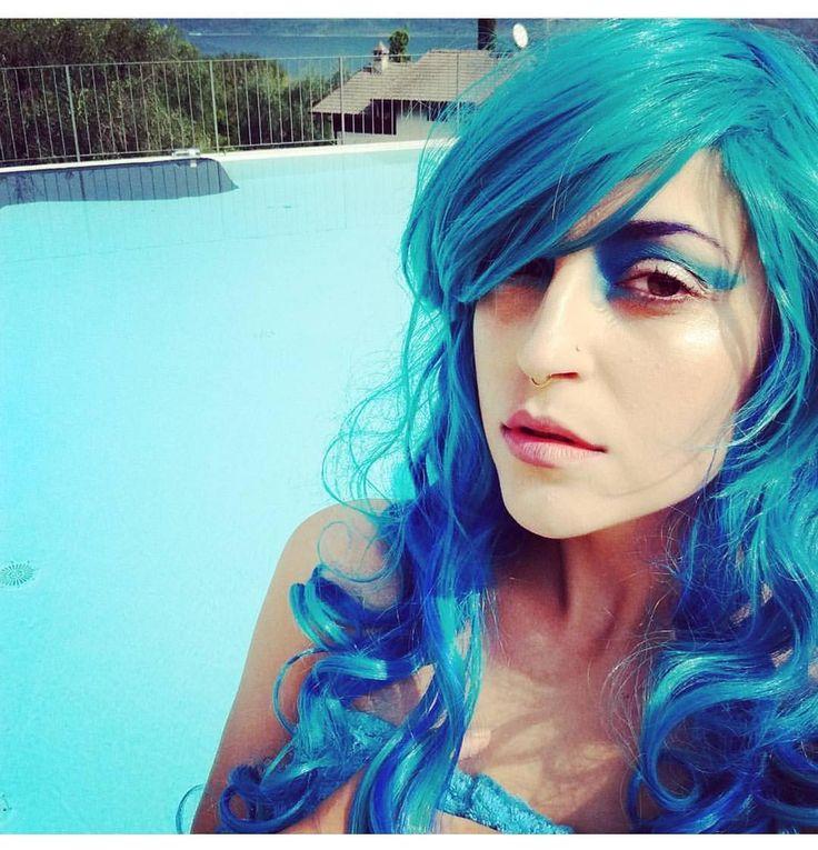 Mermaid vibes with @theroyalpotato  In Lush style: Aqua  #lushwigs #wig #mermaid #cosplay #mermaidwig #awesomehair #cosplaywig #wigs - Lushwigs.com #lushwigsaqua
