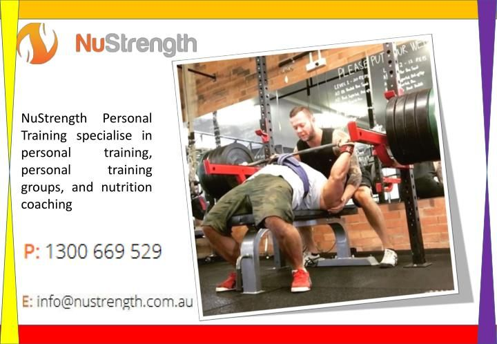 A gym fitness trainer will help you concentrate on the particular activities your body requires, lay weight on an everyday exercise schedule, and incorporate eating routine designs to energize solid sustenance, by chalking out a fitness plan.  https://nustrength.com.au/