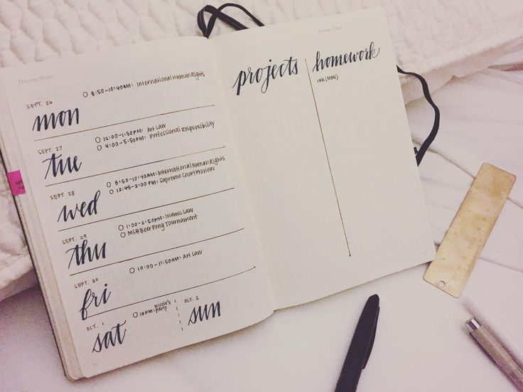 Bullet Journal® Lazy planning. Photo by Elena from @mightierthan