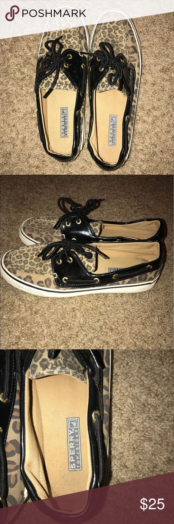 Cheetah sperry-top sider shoes Cheetah print sperry top sider boat shoes Sperry Top-Sider Shoes Flats & Loafers