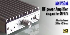 MX-P50M is a HF Radio Power Amplifier designed for mobile use with QRP radios