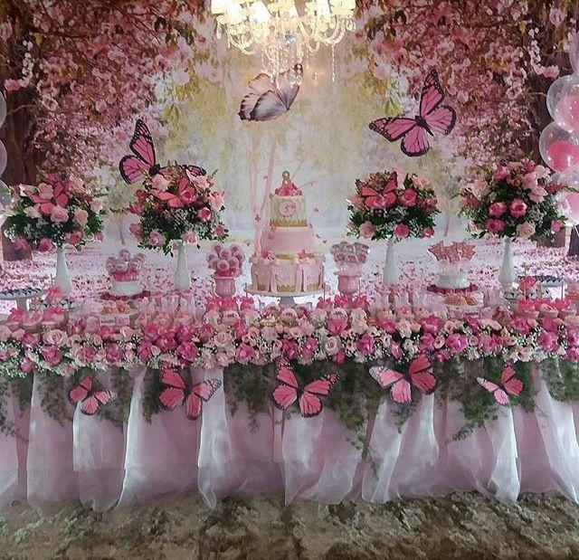 25+ melhores ideias de Jardim encantado festa infantil no Pinterest Decoraç u00e3o jardim encantado  # Decoração De Aniversario Jardim Encantado Das Borboletas