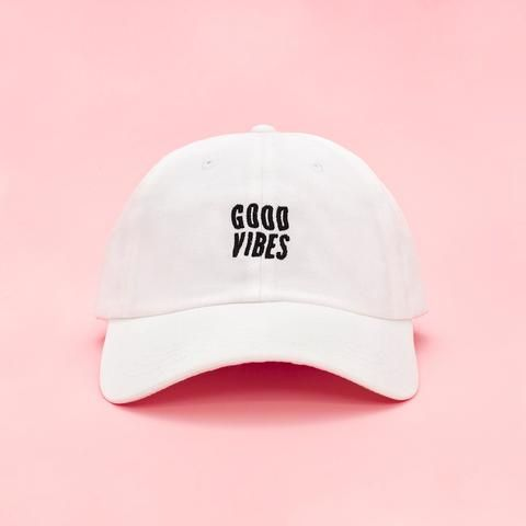Good Vibes Hat ($28 at ban.do) | http://www.hercampus.com/style/cool-hats-coachella-2017