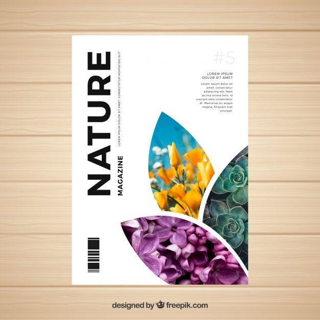Lade Natur Magazin Cover Vorlage Mit Foto Kostenlos Herunter In 2020 Magazine Design Cover Magazine Cover Layout Magazine Cover Ideas