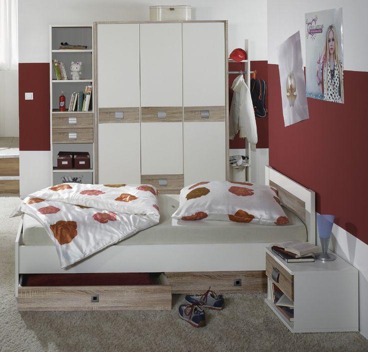 e-combuy Angebote Jugendzimmer »EMMA« 7-tlg in alpinweiß - Eiche Dekor: Category: Kinderzimmer-Sets Item number:…%#Quickberater%