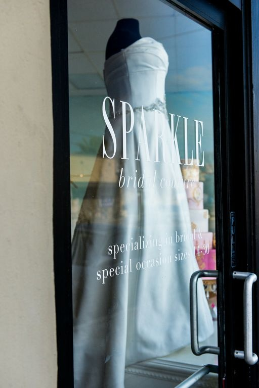 SPARKLE bridal couture, a modern showroom solely dedicated to sizes 14-30. Photographed by Charleton Churchill