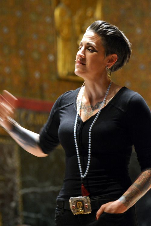 """""""We want to go to God for answers, but sometimes what we get is God's presence."""" Nadia Bolz Weber. What a joy and privilege to see and hear Nadia Bolz Weber speak at Trinity Church Boston this evening. I wish I hadn't choked on the photography -"""