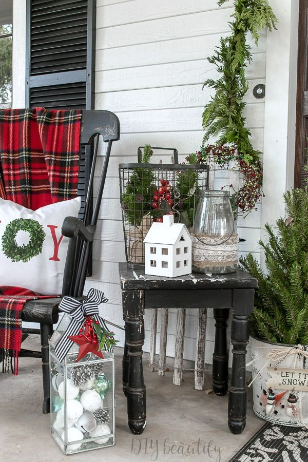 Festive and Collected Front Porch Outdoor Decor Winter 2018-2019