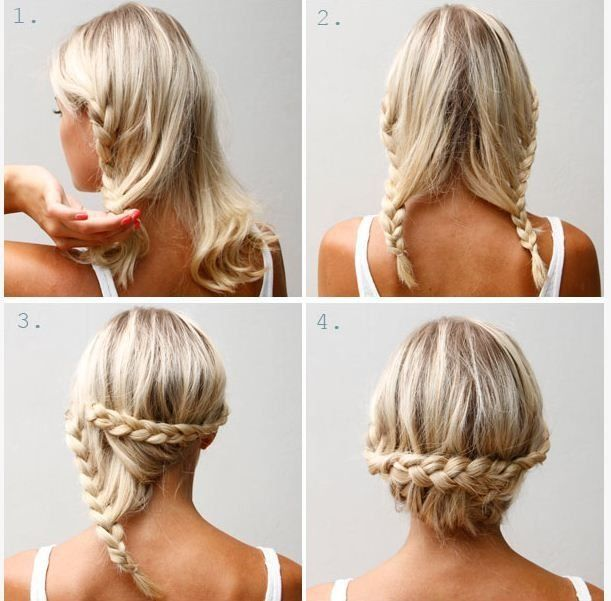 Lace braided updo