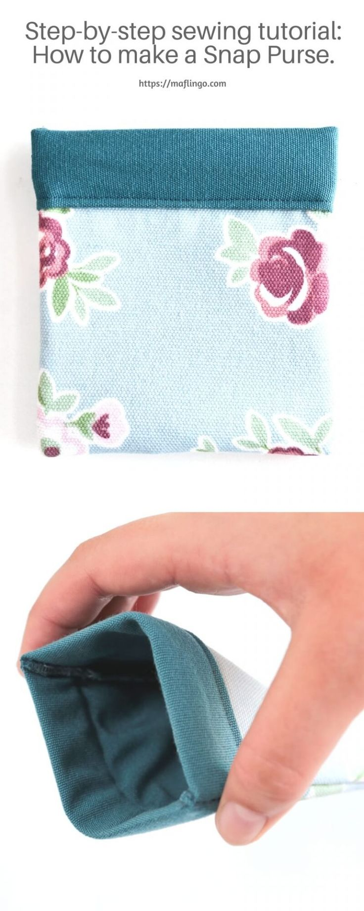 Step-by-Step Sewing Tutorial. How to make your own snap purse using a tape measure. You can customise the pattern to make glasses or sunglasses cases too. Perfect for gifts.