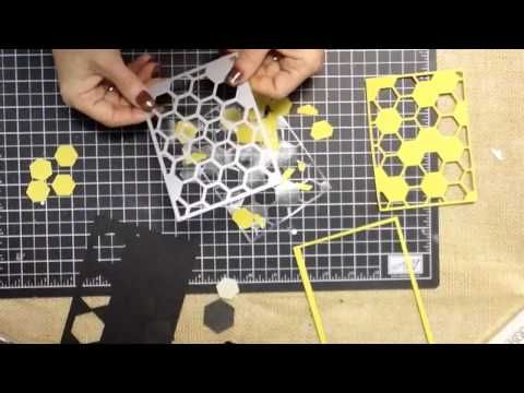 Simple trick and tip for using the Hexagon Hive Thinlit #stampinup