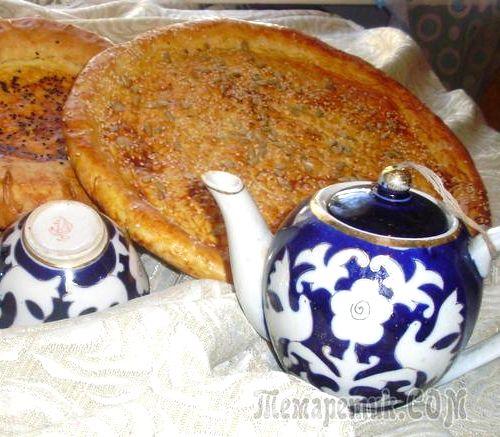 Домашние вкусные узбекские лепёшки без дрожжей