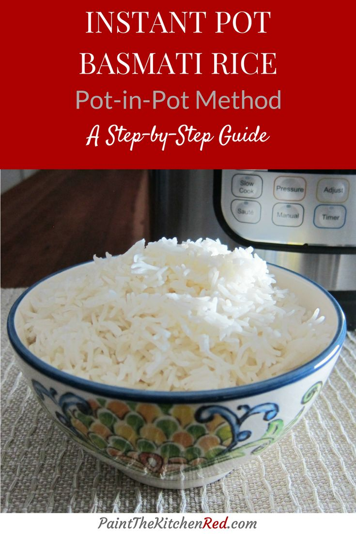 A step by step guide to making perfect basmati rice in your Instant Pot using the 'pot-in-pot' method.