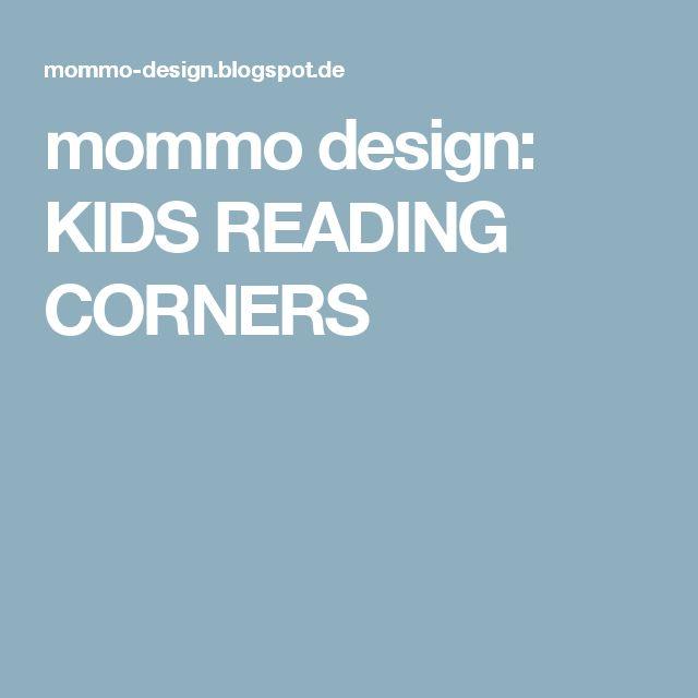 mommo design: KIDS READING CORNERS