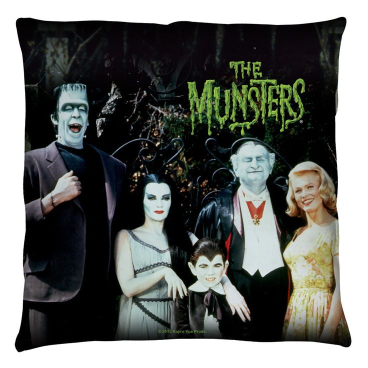 Munsters Family Throw Pillow