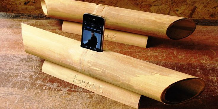 World's first mobile next-generation bamboo speaker for iPhone, Samsung, HTC, BlackBerry, Sony, Nokia, etc and power-free