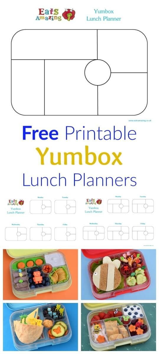 1000 ideas about meal planning templates on pinterest for Free school lunch menu templates