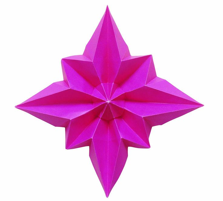 M s de 1000 ideas sobre estrellas de origami en pinterest - Estrella para arbol de navidad ...