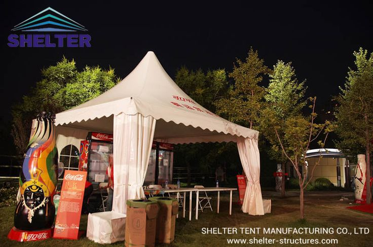 Pagoda Tent   Gazebo Tent    Coca Cola Event   Lounge Tent     http://www.shelter-structures.com/