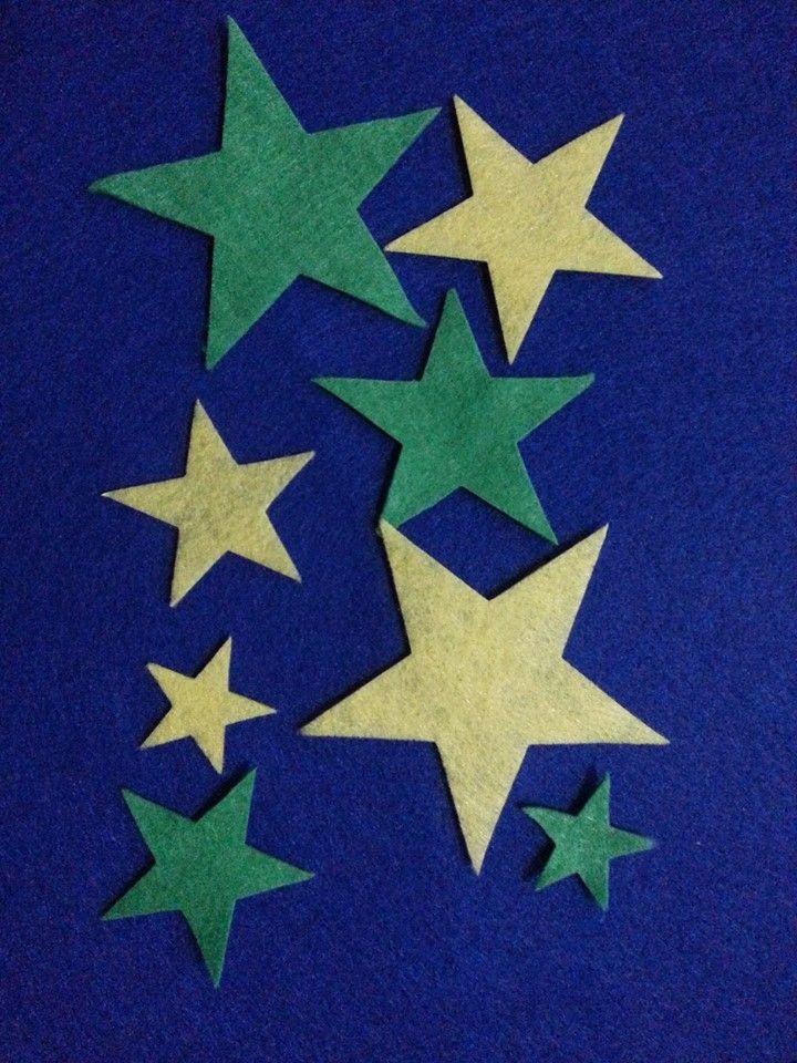 Kalın Keçe Yıldız (2 Set – 8 Parça)