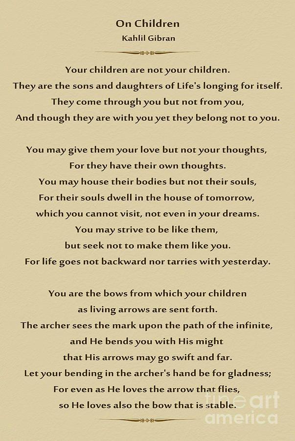 Khalil Gibran Quotes On Children : khalil, gibran, quotes, children, Lleandrys, Kahlil, Gibran, Children,, Gibran,, Quotes