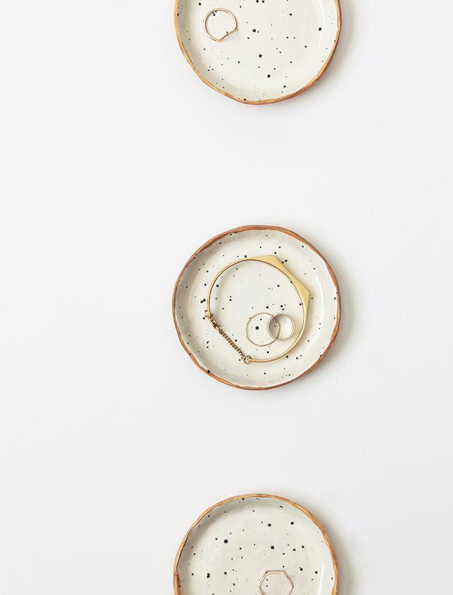 DIY speckled nesting bowls