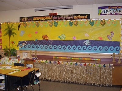 ocean themed classroom: Ocean Theme Classroom, Grass Skirts, Classroom Theme, Dresses Up, Ocean Classroom Decor, Ocean Themed Classroom, Whiteboard Ideas, Classroom Ideas, Cabinets Spaces Cov