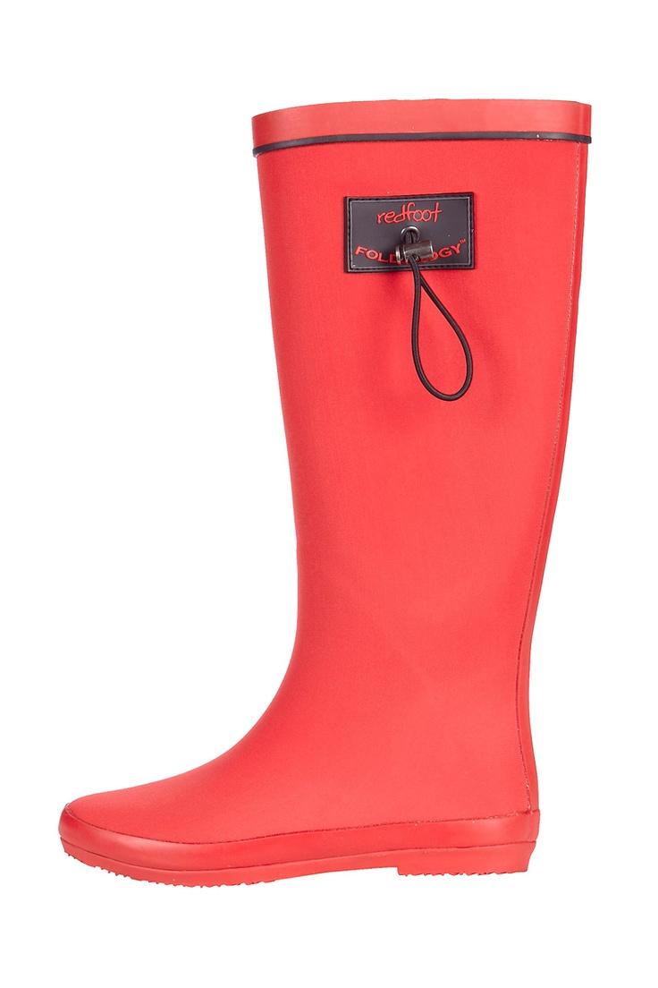 Venda Redfoot & Clever Pretty Shoes / 7899 / Redfoot / Botas / Botas Dobráveis em Borracha Vermelho. De 75€ por 26€.