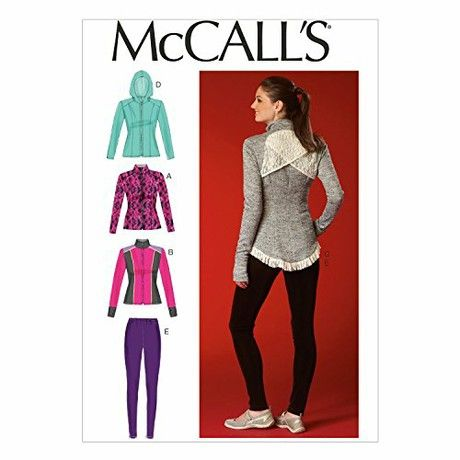 McCall's Patterns MC7026 A5 Sizes 6/ 8/ 10/ 12/ 14 Misses Jackets and Leggings, White