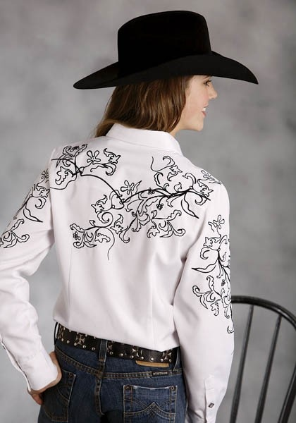 Quot Every Cowboy S Dream Ladies Western Embroidered Shirt