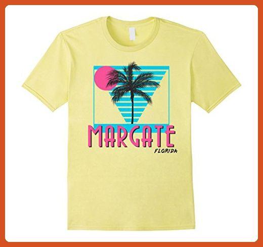 Mens Margate Florida T Shirt Retro Cool 2XL Lemon - Retro shirts (*Partner-Link)