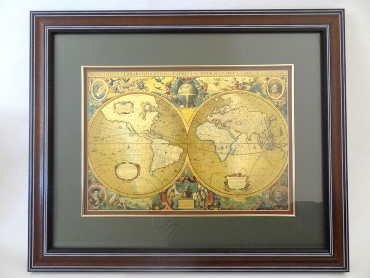 7 best mother in law to be images on pinterest large nova totius totivs gold old world map framed border terrarum orbis gumiabroncs Gallery