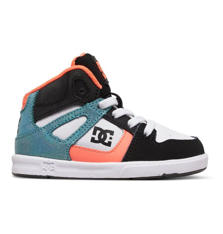 dcshoes, Toddler's Rebound SE UL High-Top Shoes, BLACK/MULTI/WHITE (kmw)