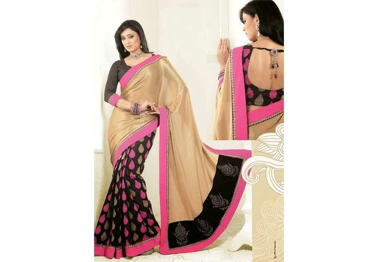 Women Golden n Black Colour Georgette Shimmer Saree PRICE -: 5000	 IBS Rs. 2555 49%Off http://www.ibscart.com/addtocart/15090/Women-Golden-n-Black-Colour-Georgette-Shimmer-Saree