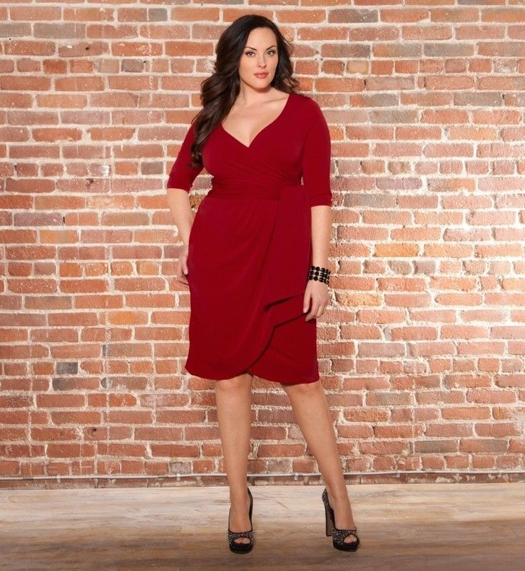 Plus size red and black party dresses