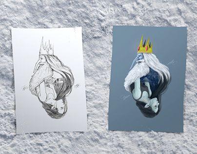 "Check out new work on my @Behance portfolio: ""IceKing & Marceline / Fanart Poster"" http://be.net/gallery/50877613/IceKing-Marceline-Fanart-Poster"