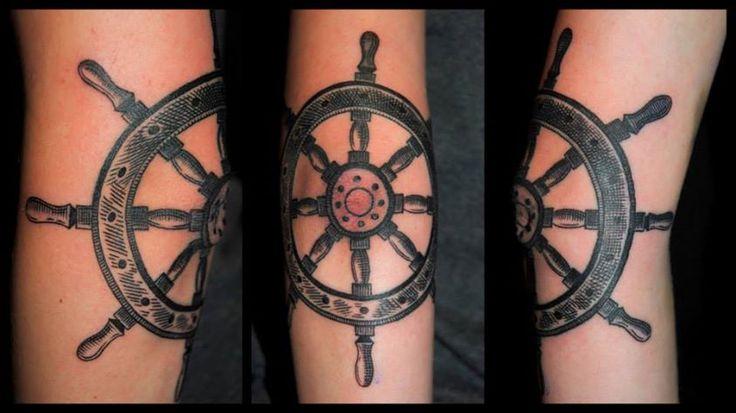 Tattoo by Piotr Wojciechowski, D3XS TATTOO ORCHESTRA (Gliwice) #tattoo #rudder #ship #sailor #tatuaz #ster  https://www.facebook.com/d3xs.tattoo.orchestra/photos/a.177726618929547.30925.171113032924239/752833588085511/?type=1&theater
