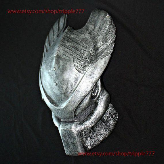 1:1 Scale Replica Predator mask, Predator costume, Predator helmet, Home decor, Wall mask, Halloween mask, AVP Ancient Temple Guard PD17