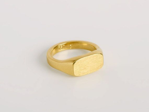ring band wedding handmade wide bands gold rose