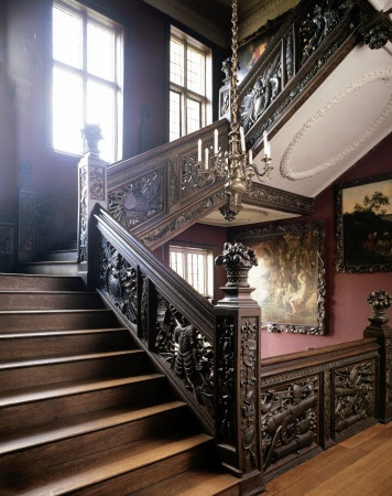 The Great Staircase (actually at Ham House in Surrey).