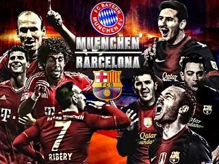 Bayern Muenchen - Barcelona -  Duel pada leg pertama semifinal Champions League di Allianz Arena, Selasa (23/4) atau Rabu (24/4) dinihari WIB.     Read more: http://amriawan.blogspot.com/2013/04/prediksi-semi-final-liga-champions-leg.html#ixzz2RCUIZ8VN