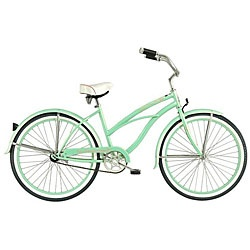 @Overstock - Bring some style to your cycling with this classic beach cruiser  Bicycle is the perfect way to get around town  Improve your fitness and activity level with the Tahiti Beach Cruiserhttp://www.overstock.com/Sports-Toys/Womens-Mint-Green-Tahiti-Beach-Cruiser/4073301/product.html?CID=214117 $222.99